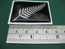 2 New Zealand Silver Fern Domed Stickers 45mm x 31mm