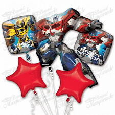 Transformer 5 Birthday Mylar Bouquet Balloons Party Decoration Set