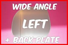 FITS NISSAN MICRA K13 MK4 2011+ WING MIRROR GLASS WIDE ANGLE+ BACKING PLATE LEFT