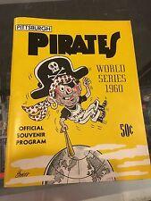 1960 PITTSBURGH PIRATES NEW YORK YANKEES WORLD SERIES PROGRAM UNSCORED NM