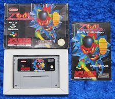 Zool Ninja of Nth Dimension, OVP instrucciones, SNES, Super Nintendo juego