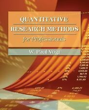 Quantitative Research Methods for Professionals in Education and Other Fields b
