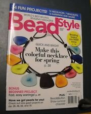 BEAD STYLE MAGAZINE MAR 2008 MAKE COLORFUL SPRING NECKLACE 34 FUN PROJECTS