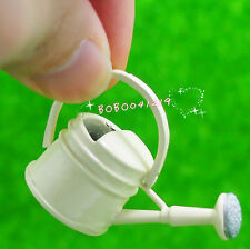 Dollhouse Miniature 1:12 Toy Garden Metal Cream Watering Can Length 4cm JM42B