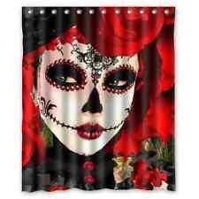 Custom Dia De Los Muertos Suger Skull WaterProof Fabric Shower Curtain 60x72