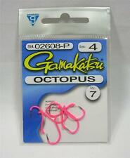 Package of 7 Size 4 Fluorescent Pink Gamakatsu Octopus Fishing Hooks
