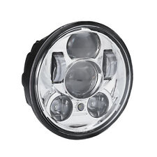 """5-3/4"""" 5.75"""" 45W Chrome Motorcycle LED Daymaker Projector Headlight For Harley"""