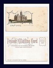 UTAH SALT LAKE CITY STATE AND COUNTY BUILDING PRIVATE MAILING CARD CIRCA 1900