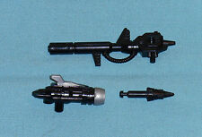 original G1 Transformers dinobot SNARL WEAPONS PARTS LOT gun, launcher + missile