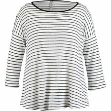 Nocozo Womens Stripe Loose Knit Jumper Size Small BNWT Black & White Uk Freepost