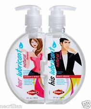 2-Pack 10oz His and Hers Couple Lube Together Water-based Lubricant Sex Enhancer