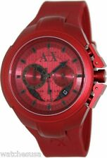 Armani Exchange Chronograph Red Dial Red Aluminium Mens Watch AX1186