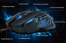 Ultra-precise 3200 DPI 6D LED Optical Wired Gaming Game Mouse Mice For PC Laptop