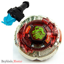 Fusion METAL Beyblade Masters BB-65 Rock Escolpio+BLUE STRING LAUNCHER+GRIP