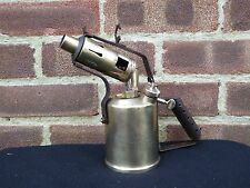 Vintage Optimus 411 Brass Blow Torch Made In Sweeden Steampunk Man Cave