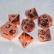 16mm Mega Metallic Dice Games: Copper Polyhedral Dice  (Set of 7)