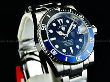 Legend Men Submariner Deep Blue Auto Sapphitek Batman Black-Blue Dial SS Watch