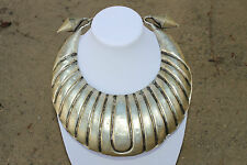 BIG Antique HMONG HILL TRIBE Silver AUTHENTIC Tribal Ceremonial THAI Necklace