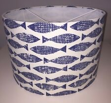 Handmade Lampshade In Harlequin / Scion Fabric Samaki Ink Wabi Sabi Fish 20cm