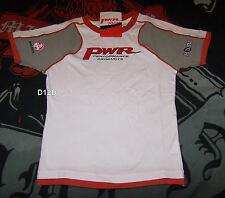 PWR Racing Holden V8 Supercar Ladies White Printed T Shirt Size S New
