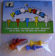 UNOPENED PKG 5 PLASTIC GOLF TEES-ALL DIFFERENT HEIGHTS