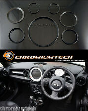 Mini Cooper/S/Uno R56 Hatch R58 Coupe R59 Roadster Negro Interior Ring Kit Nuevo