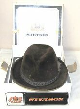 STETSON--BROWN FELT HAT--THE SOVEREIGN--WITH BOX--SIZE 6 7/8