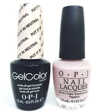 OPI Soak-Off GelColor Gel Polish + Nail polish Put It In Neutral T65 14.8ml