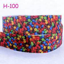 "Hot DIY 7/8""(22mm) Candy Printed Grosgrain Ribbon Hair Bows Sewing Crafts Gifts"