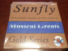 SUNFLY GOLD KARAOKE DISC GD-046 MUSICAL GREATS CD+G SEALED 16 TRACKS