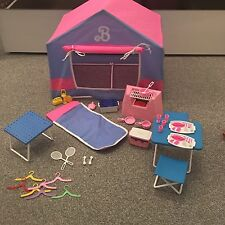 Vintage Barbie 1991 Camping Set Tent Sleeping BBQ Pans Camper Bundle Large 90's