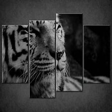 TIGER BLACK & WHITE SPLIT CANVAS WALL ART PICTURES PRINTS LARGER SIZES AVAILABLE