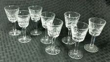 Waterford Lismore Set of 8 Cocktail Cordial Liqueur Glasses Clear Crystal