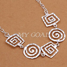 Fashion Charm Jewelry Silver Choker Chunky Statement Bib Pendant Chain Necklace
