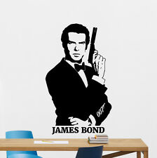 James Bond Wall Decal Agent 007 Pierce Brosnan Vinyl Sticker Movies Mural 67zzz