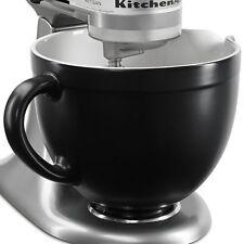 New KitchenAid KSMCB5BM 5-qt Ceramic Mixing Bowl Attachment Black Matte