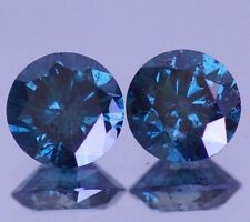 3.00 Carat Fancy Blue Diamond Loose Huge PAIR for Earrings Best Deal Ebay Beauty