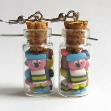Liquorice Allsorts Vial Candy Jelly Sweet Jar Valentines Day Gifts Fimo Earrings