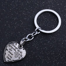 Clear Love Heart Dog Paws Pet Cat Print Keychain Women Men Keyring Jewelry Gifts