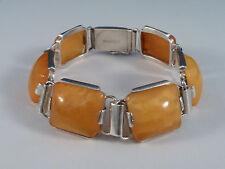 silbernes Armband - SBM Königsberg - mit Bernstein - 800er Silber - um 1930
