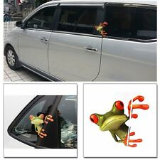 2pcs 3D Peep Frog Funny Car Stickers Truck Window Decal Graphics For Ford Toyota