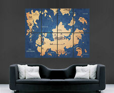 GAME OF THRONES MAP POSTER HOUSE BANNER WALL ART TV SERIES IMAGE HUGE