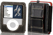 MACALLY DIVO LEATHER CASE WRIST/NECK LANYARD BELT LOOP FOR iPOD NANO 3G 3rd GEN