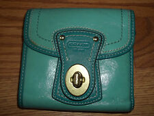 Coach Legacy Blue Leather  French Small Wallet