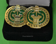 "Army Drill Instructor Cufflinks - ""This We'll Defend""  -  Drill  Sergeant - DI"