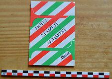 Autocollant sticker des années 1980, Hôtel Menzeti Budapest