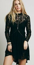 Free People Hearts Delight Dress - Black - Lace - Extra Small XS - Brand New