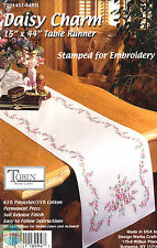 Stamped Embroidery Kit ~ Tobin Floral Daisy Charm TABLERUNNER #T201457-44RN