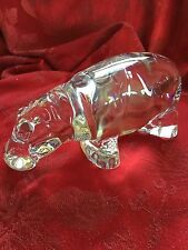 FLAWLESS Exceptional BACCARAT Large RARE Crystal HIPPOPOTAMUS Sculpture Figurine