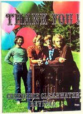 CREEDENCE CLEARWATER REVIVAL 1970 Poster Ad FANTASY RECORDS CCR